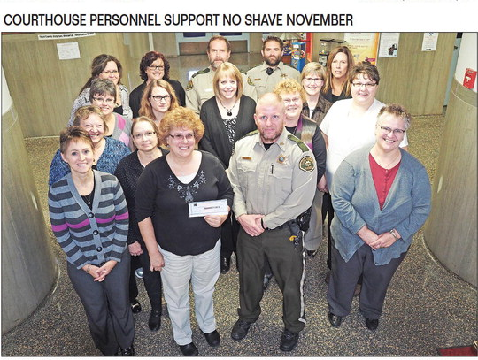 COURTHOUSE PERSONNEL SUPPORT NO SHAVE NOVEMBER