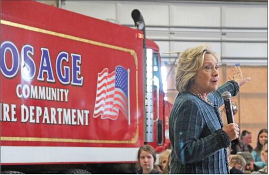 Clinton backs autism initiative, gun safety proposals