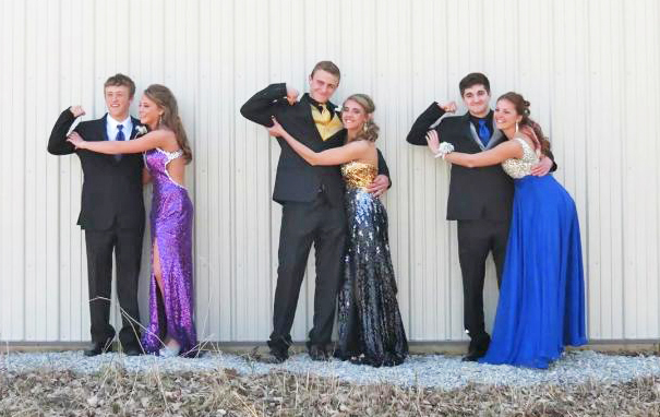 Comets trending toward cool colored dresses, gray tuxedoes for prom