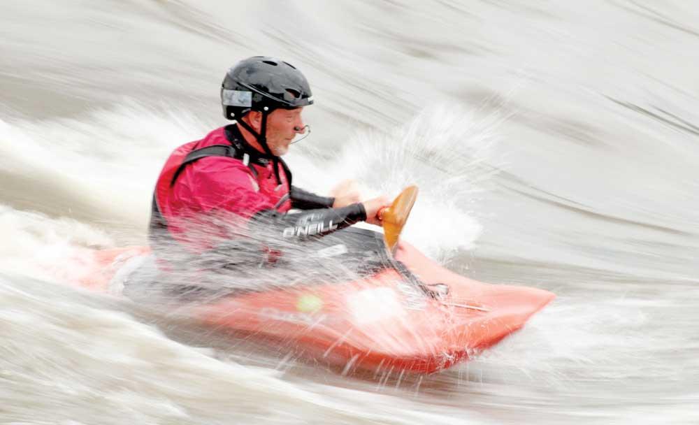 Rising waves in the Cedar River