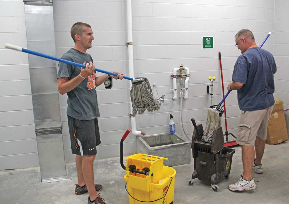 GALLERY: Cleaning crew at the Charles City Middle School
