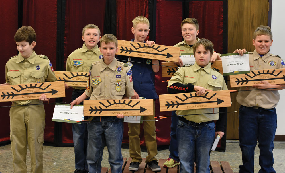 7 Charles City boys earn Arrow of Light award