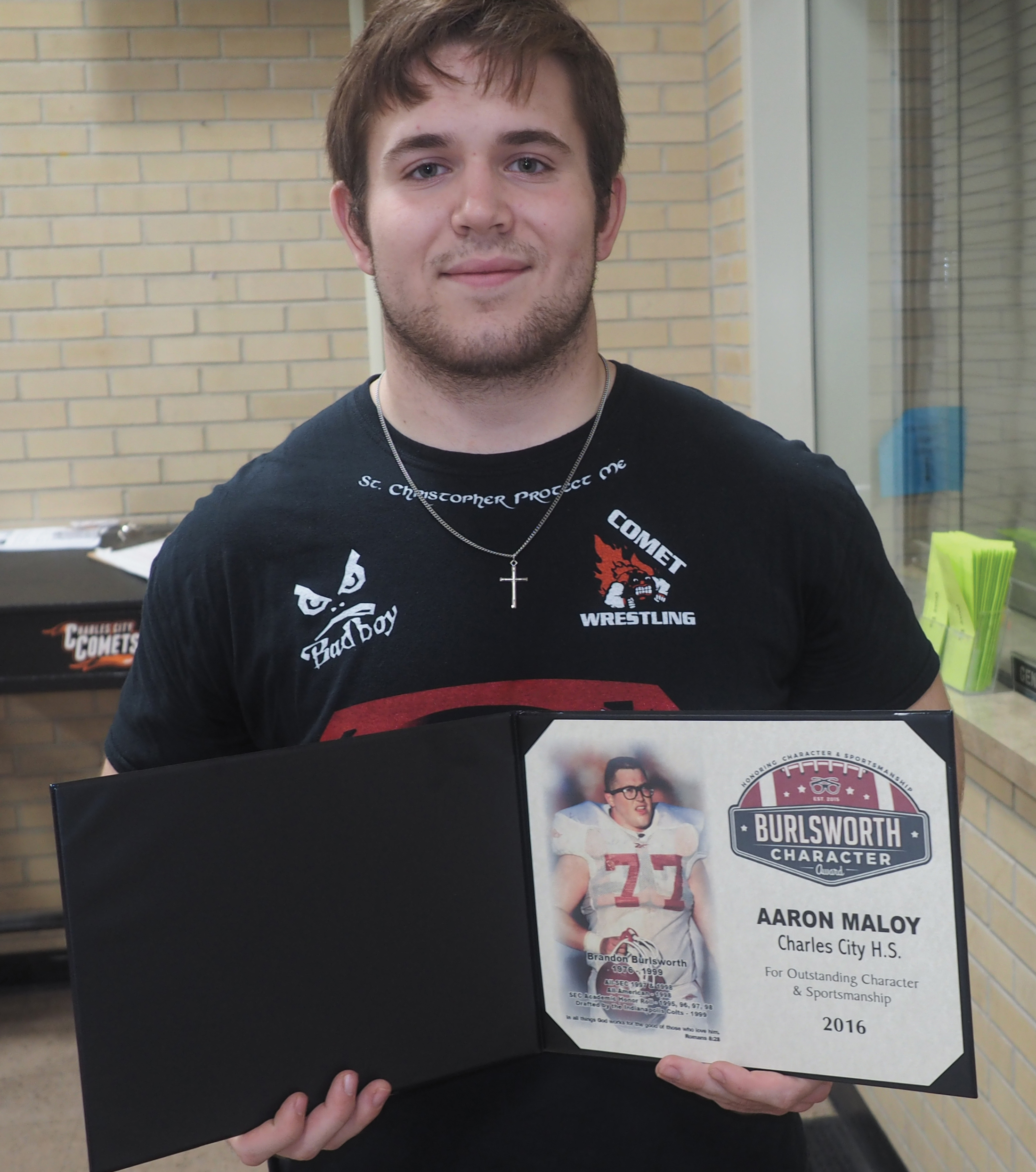 AJ Maloy honored with Burlsworth Character Award