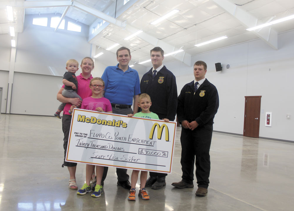 McDonalds owners donate $30,000 to FFA fairgrounds building