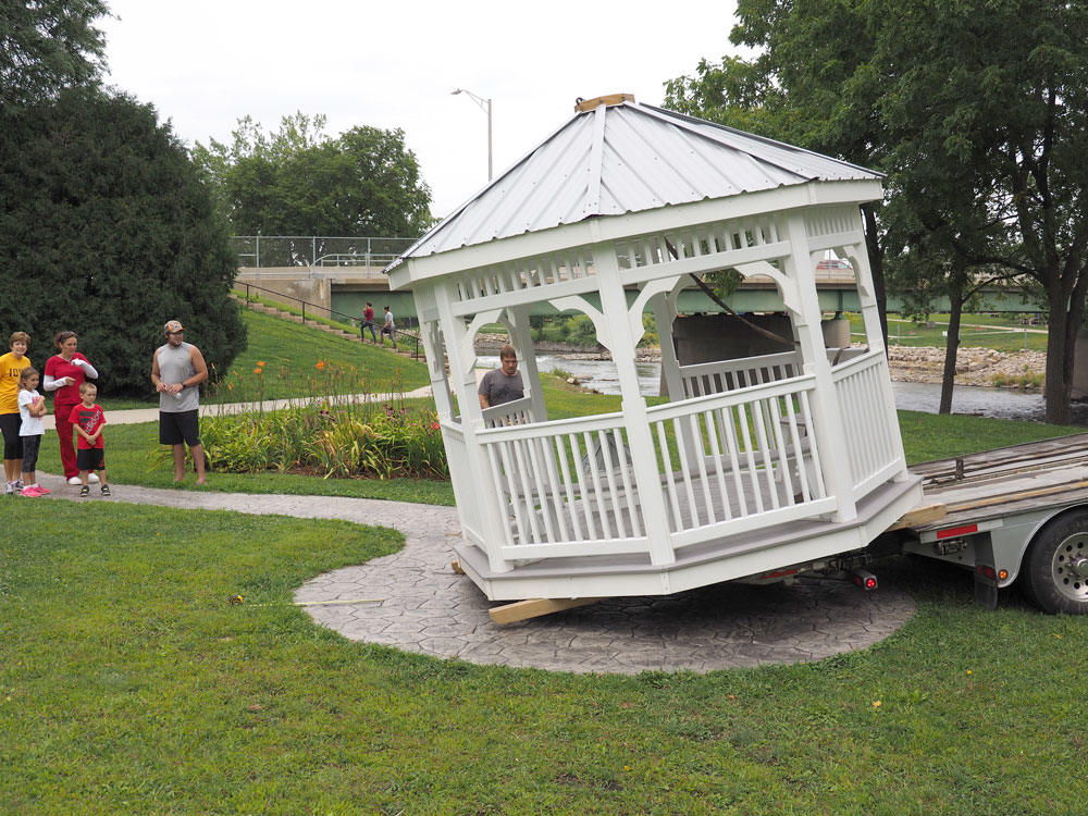 Gazebo is new focal point of Charles City memory garden park