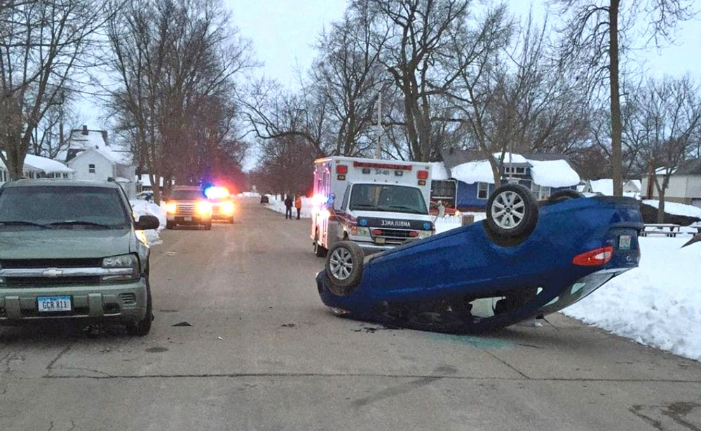 Nora Springs woman receives minor injuries in car roll-over