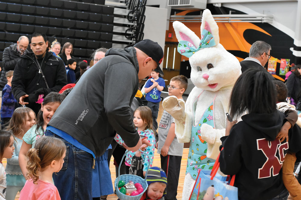 The Easter Bunny comes to town
