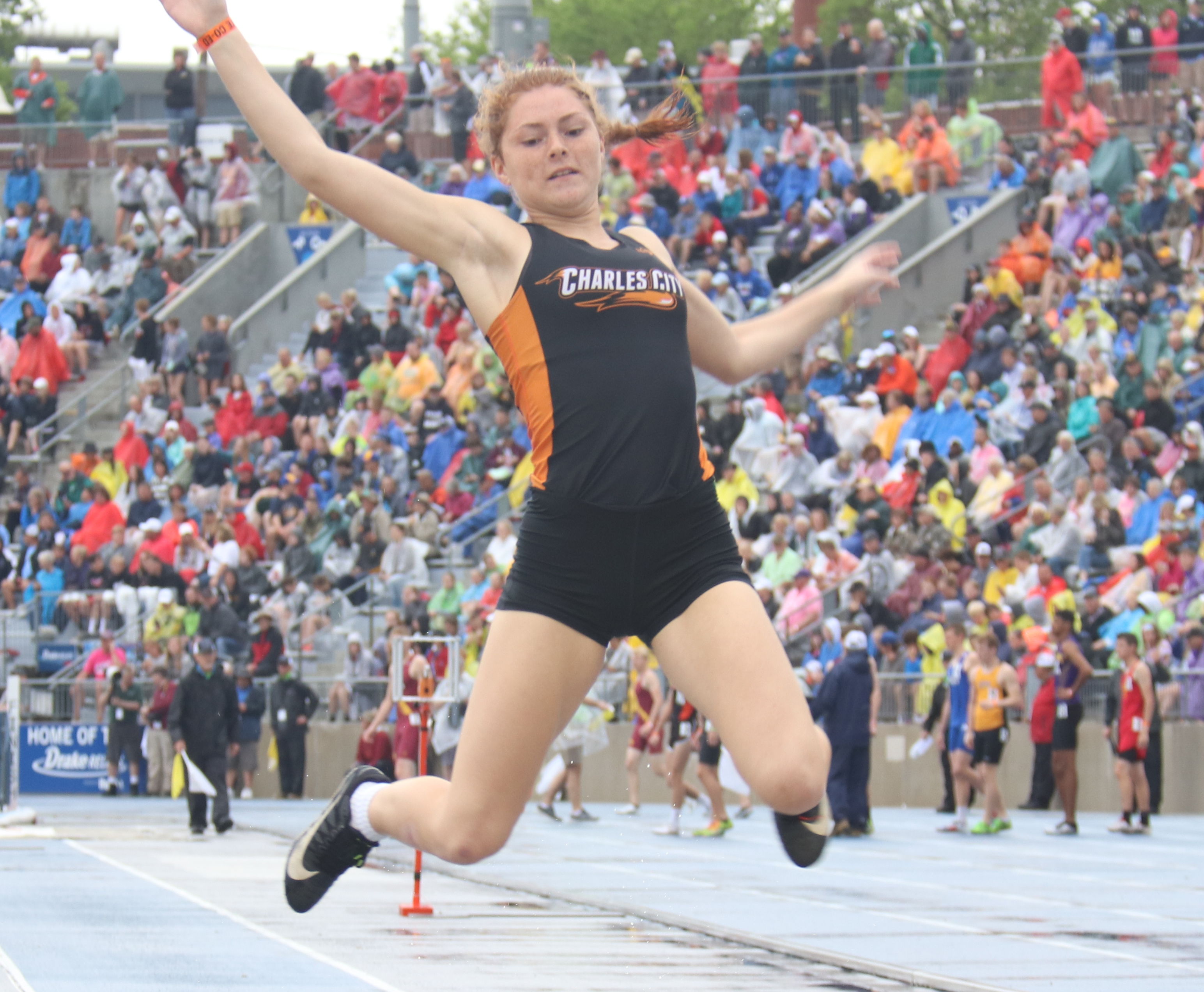 Comet Liz Fiser 2nd in long jump at state