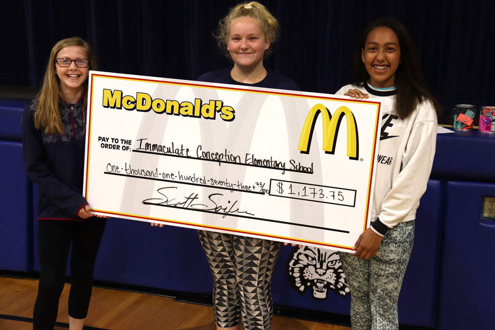 IC School and McSoifer Family McDonald's team up to break fundraising record