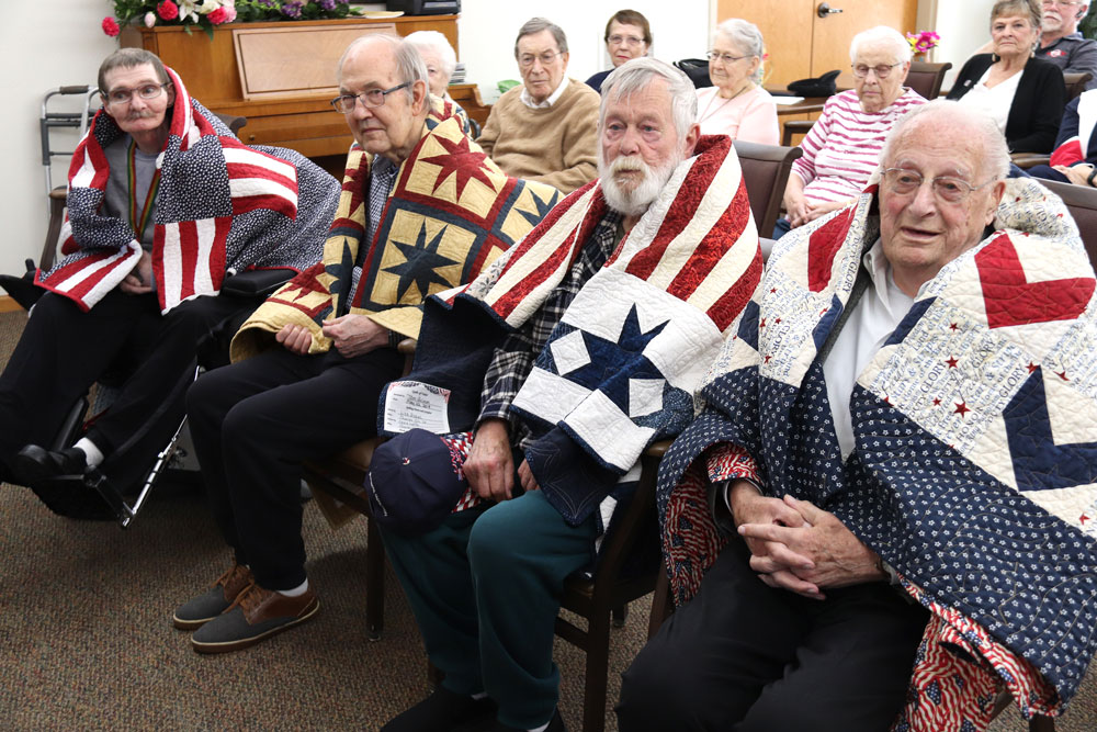 Floyd County Quilts of Valor honor four military veterans