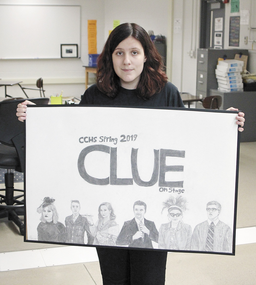 Woodard's artwork brings in some funding for CCHS drama