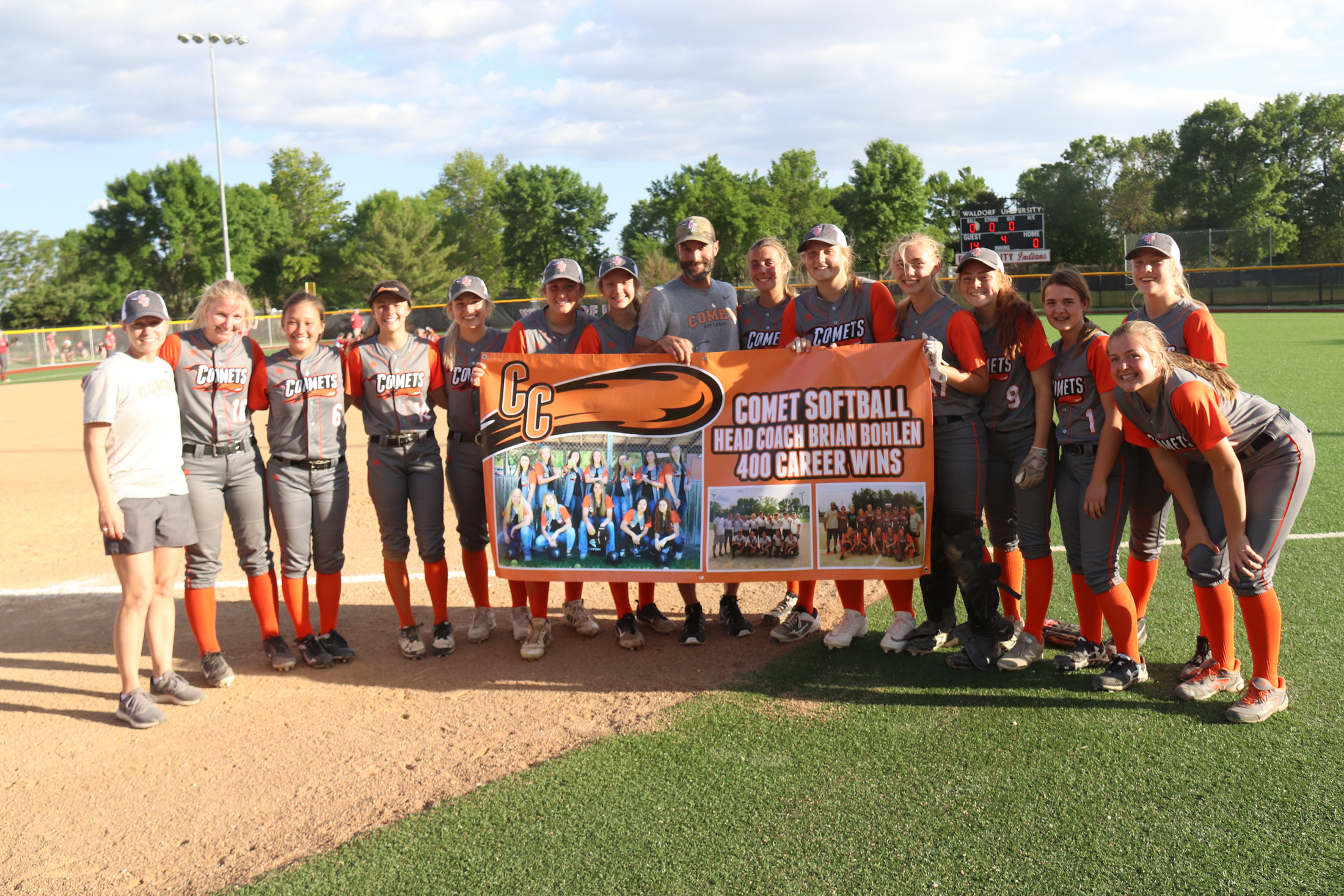 Hitting 400 — Comet softball coach reaches milestone win
