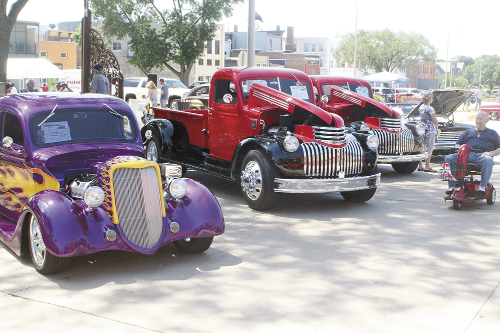 Classic cars line the streets for the 38th and final C.A.R. show