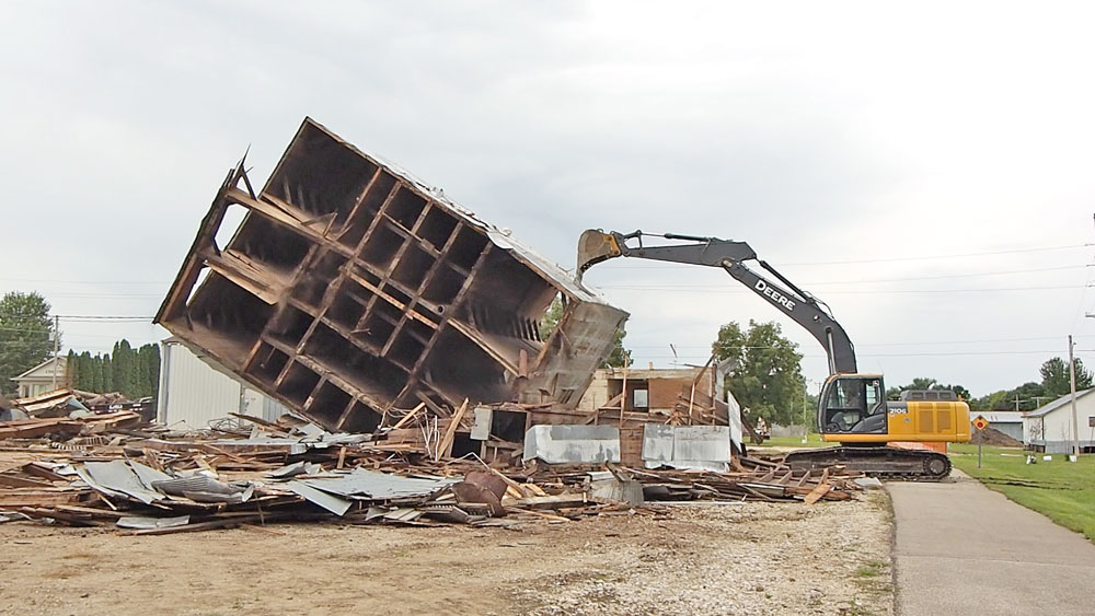 Old A&B Elevator feed mill knocked down, demolished