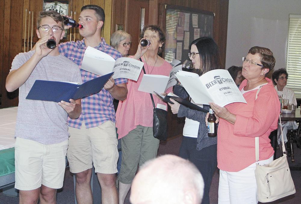 Elks host Charles City's first 'Beer Choir'