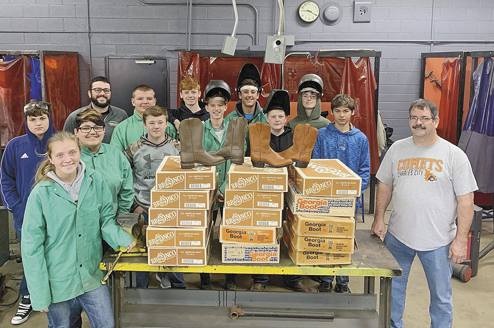 Boots donated to CCHS welding students