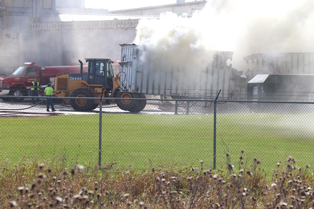 Semi-trailer fire extinguished at Winnebago