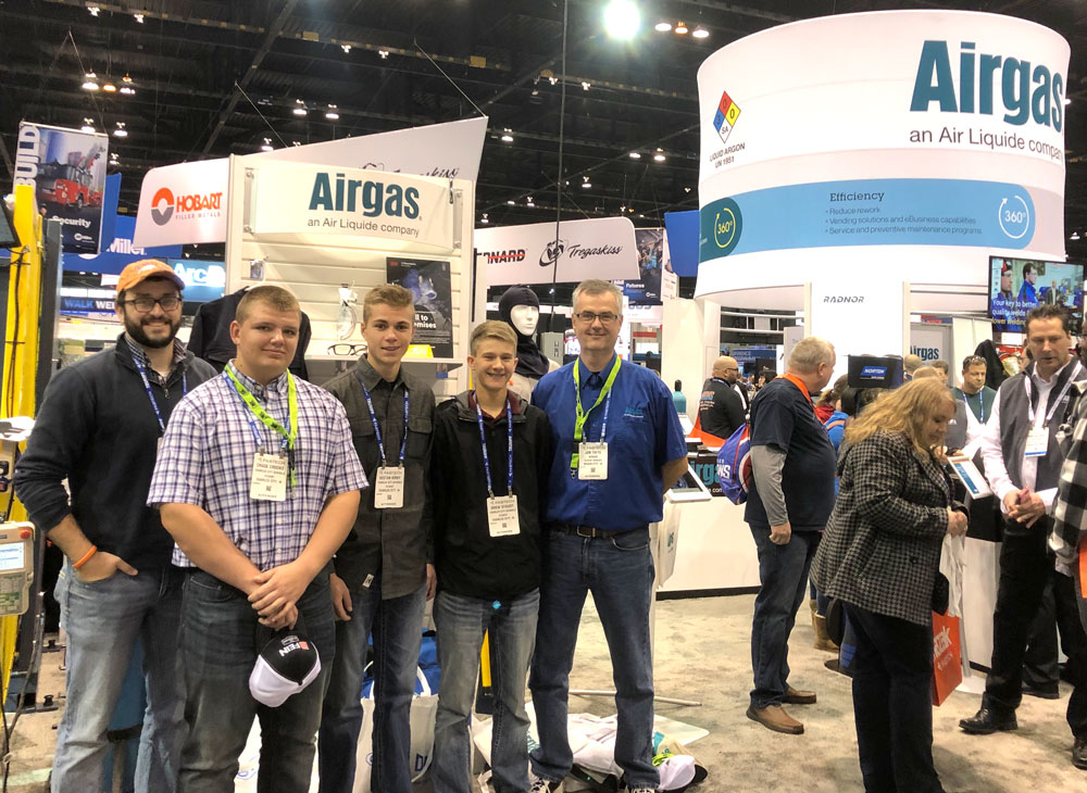 CCHS welding students attend expo; program receives $28,000 grant from Airgas