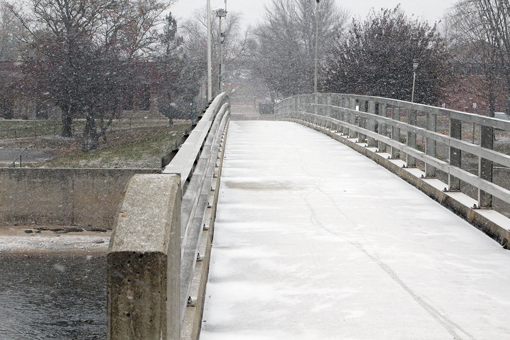 A taste of snow, with bitter cold coming next week