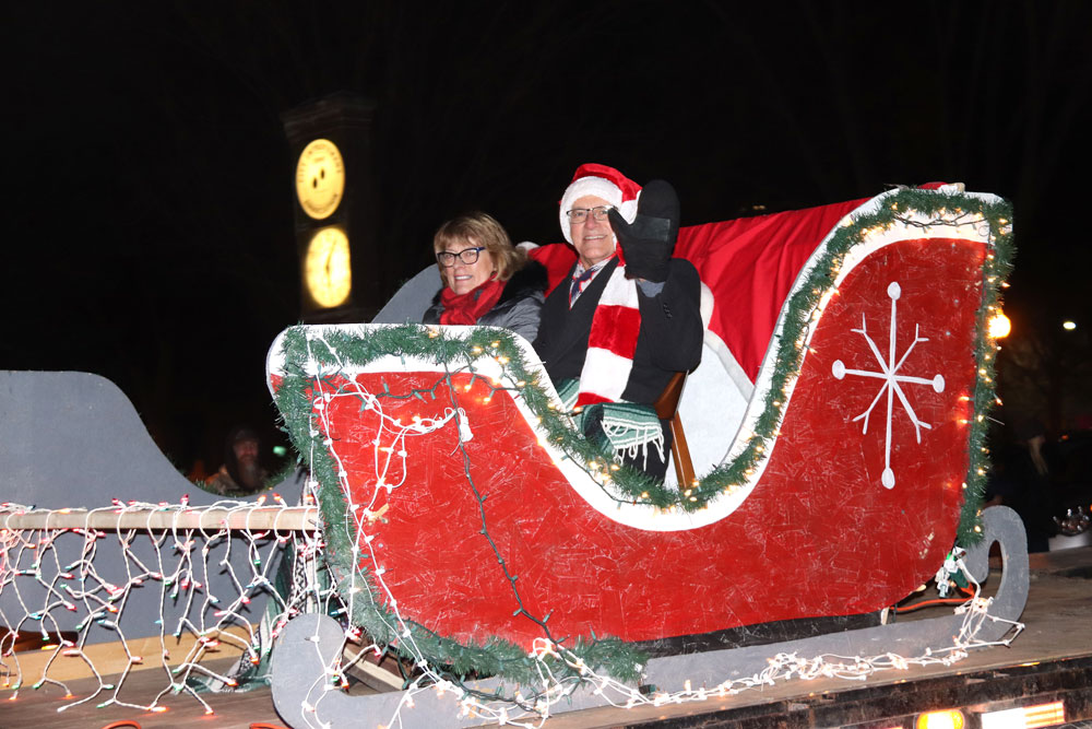 Downtown Charles City aglow as Holiday Lighted Christmas Parade rolls through town