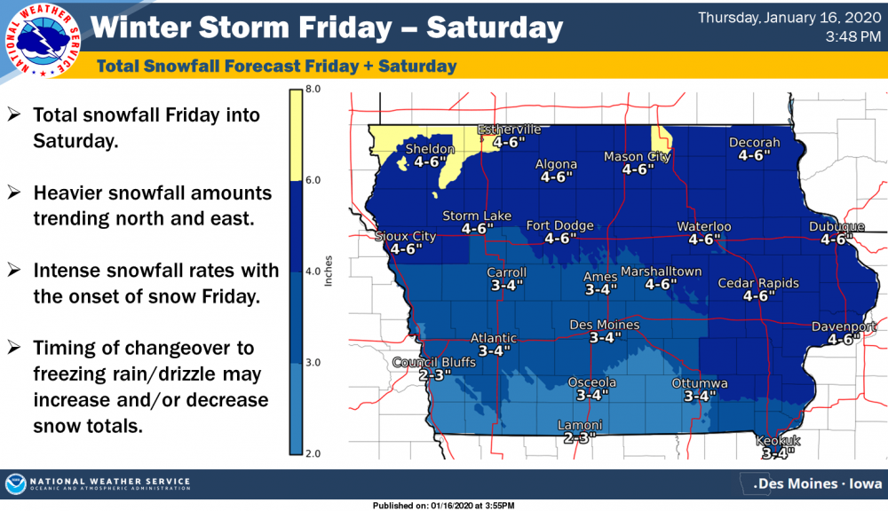 Charles City area winter storm warning extended to later Saturday