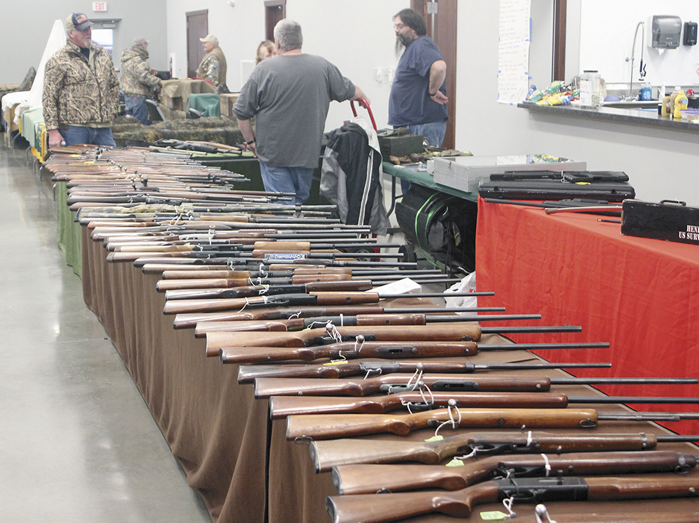 Hunters, collectors and gun enthusiasts attend show at fairgrounds