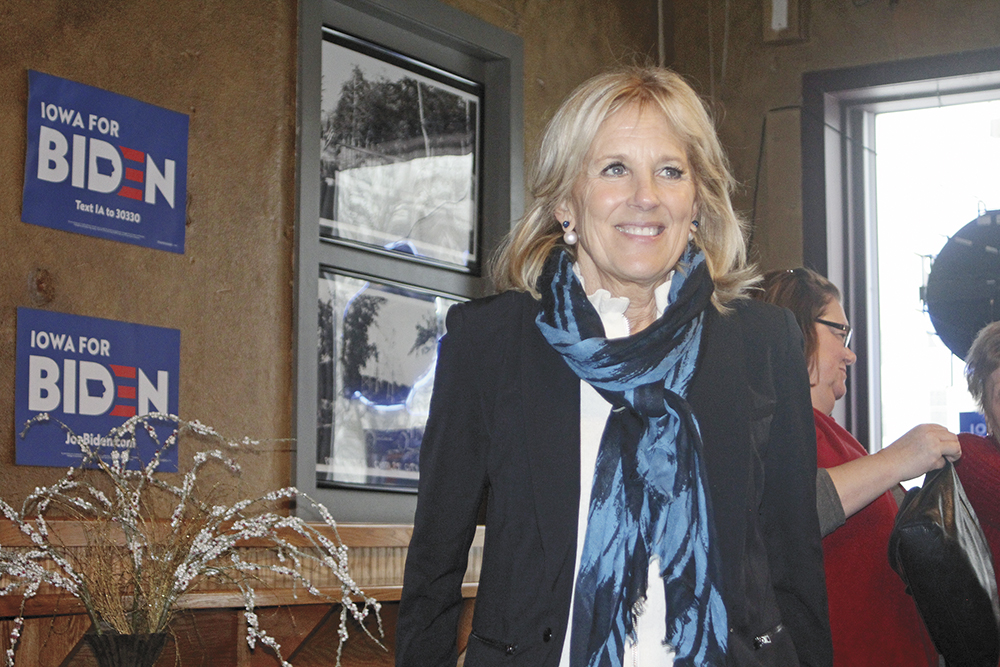 Dr. Jill Biden stumps for her husband in Charles City