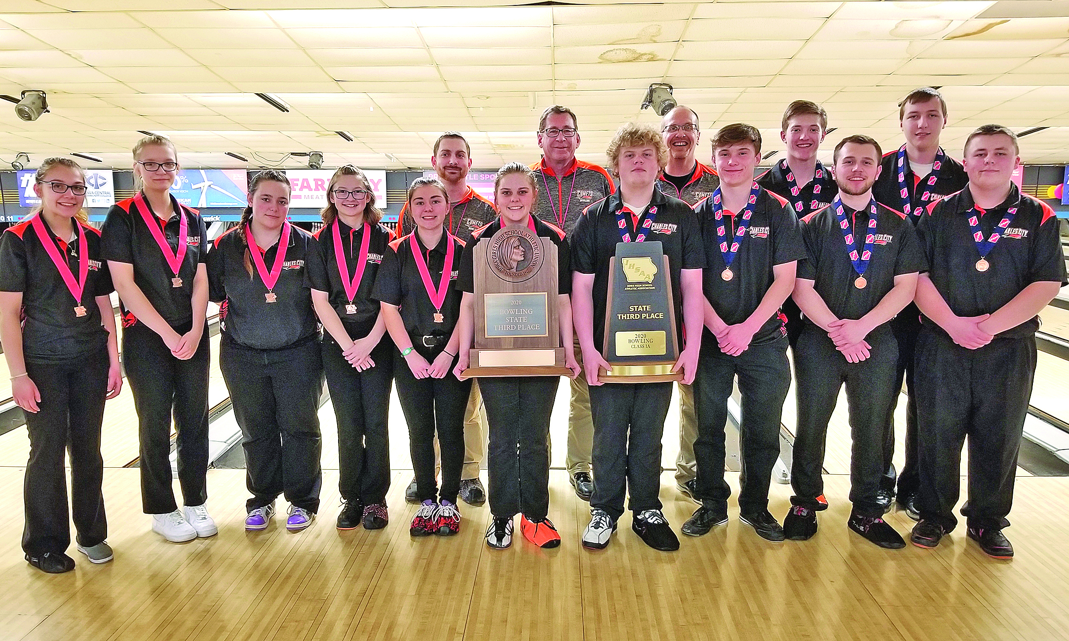 Comet boys and girls both finish 3rd at Class 1A State Bowling Tournament