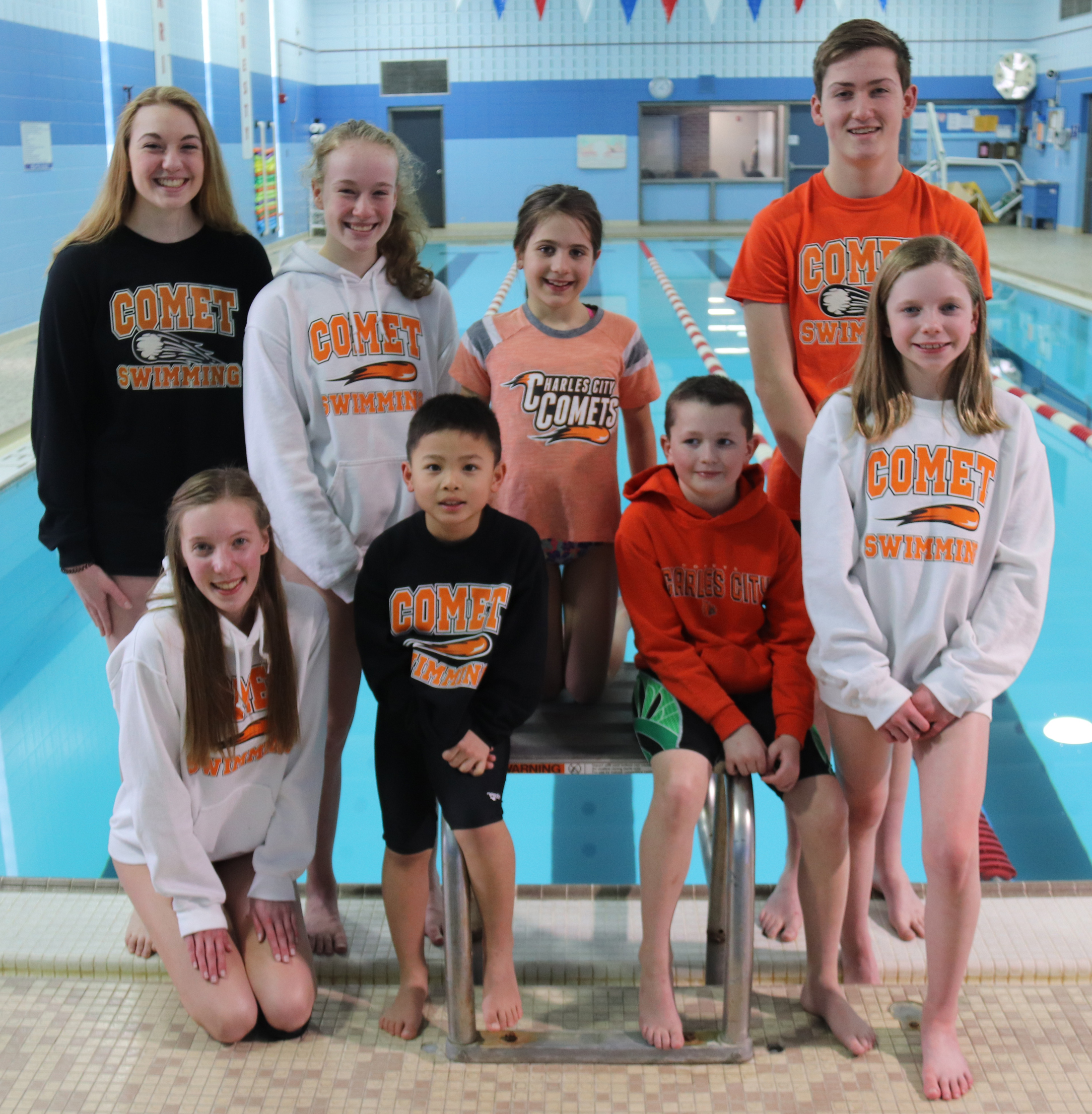 Charles City YMCA qualifies 10 for State Swim Meet