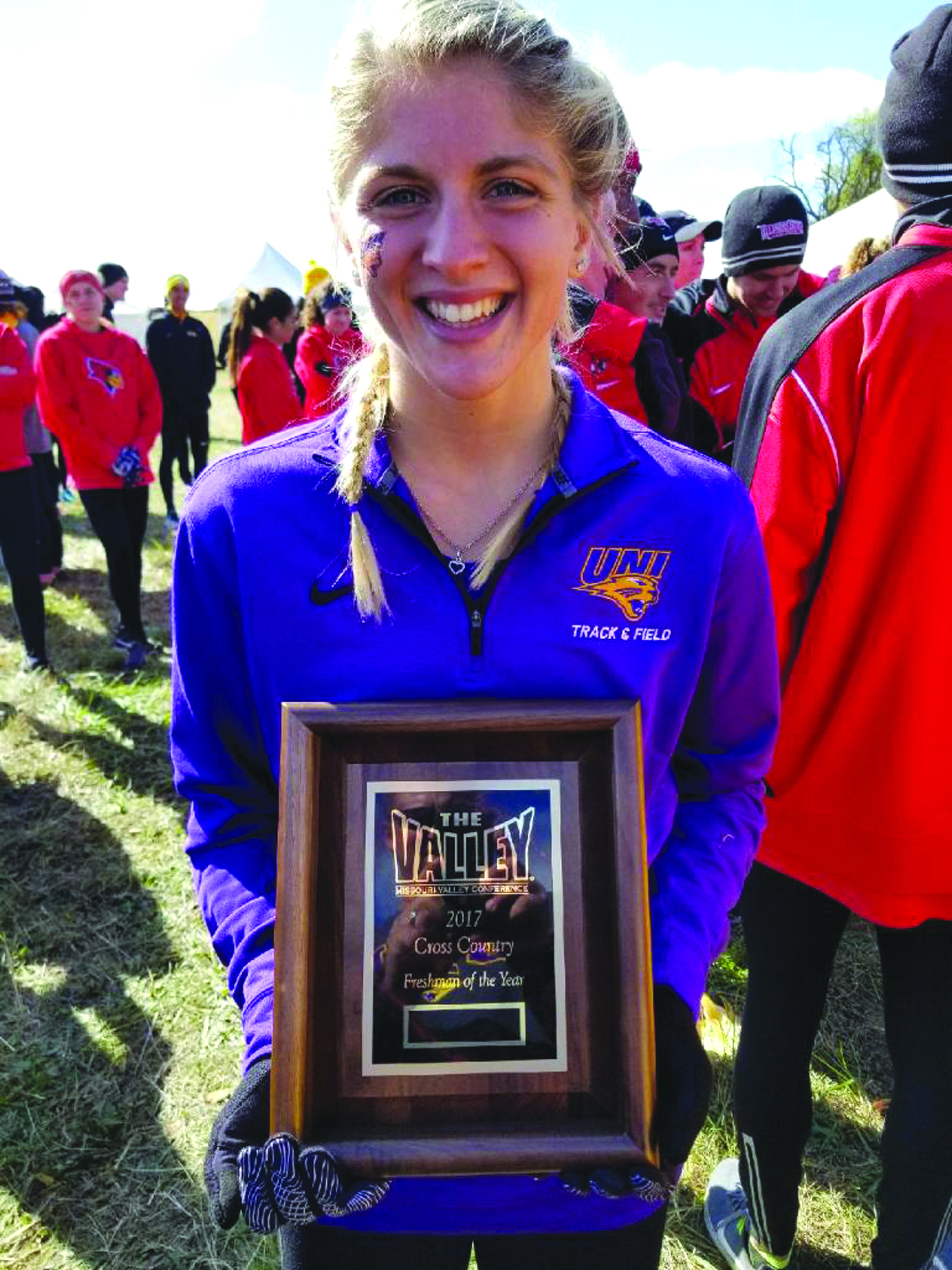 Canceled season a bump in the road for UNI runner and former Comet McKayla Cole