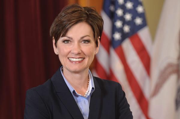 Kim Reynolds sworn in as Iowa's first female governor