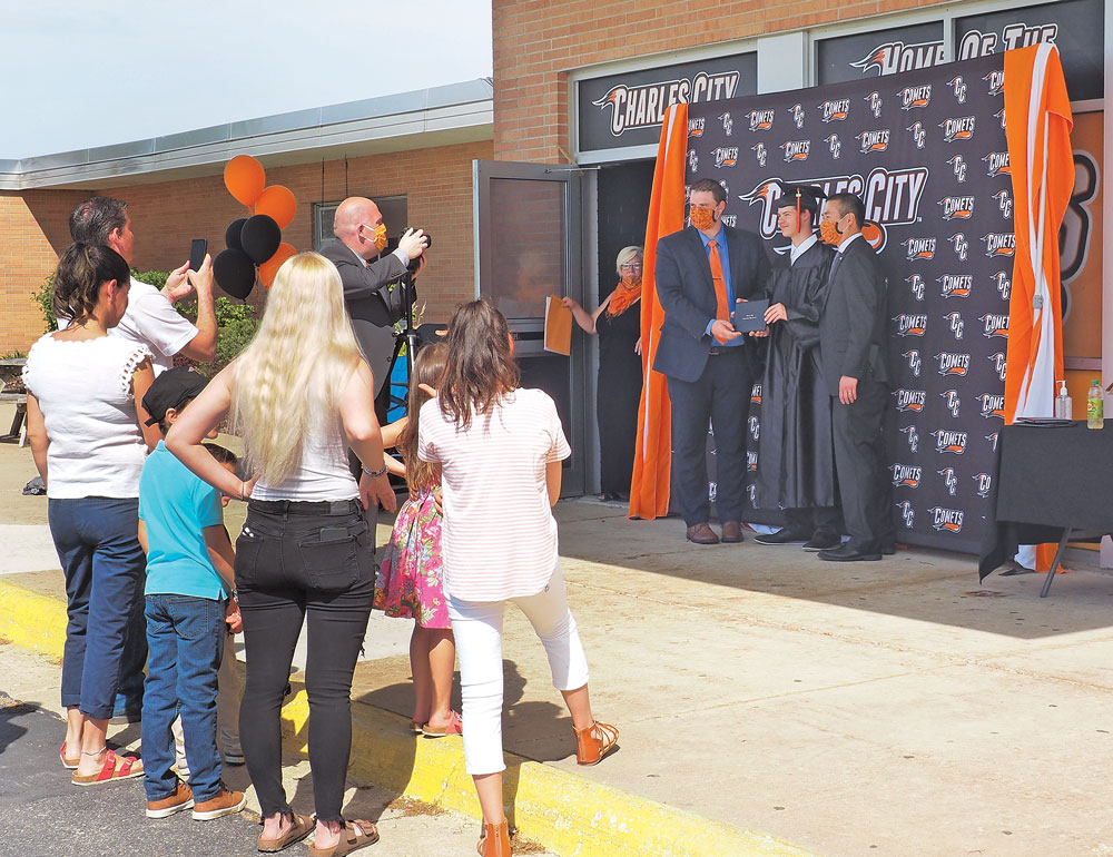 Charles City school honors the Class of 2020 – one graduate at a time