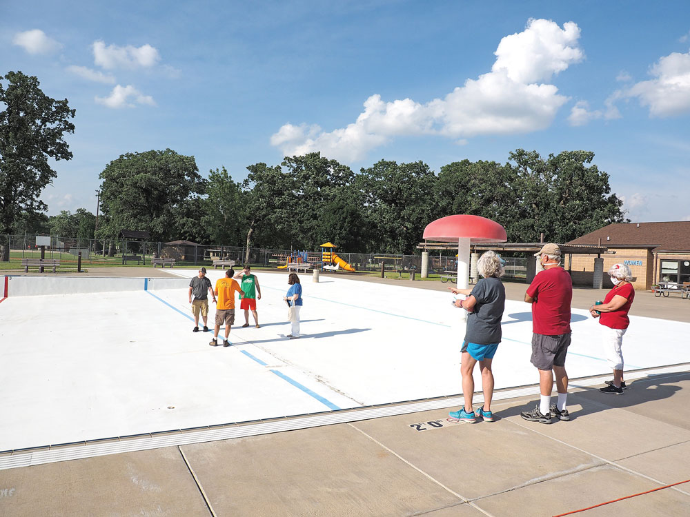 Charles City Parks & Rec board tours empty pool, looks to facility's future