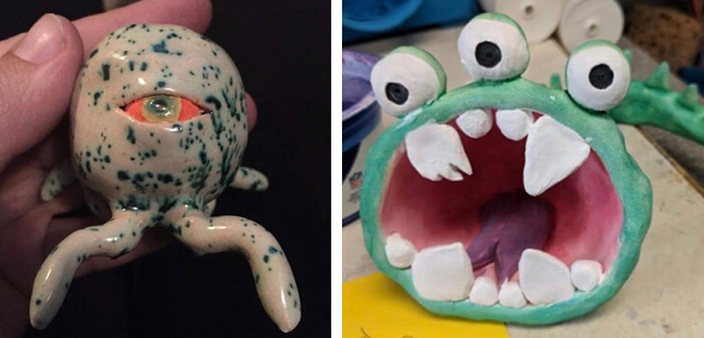Create clay creatures in Arts Center classes
