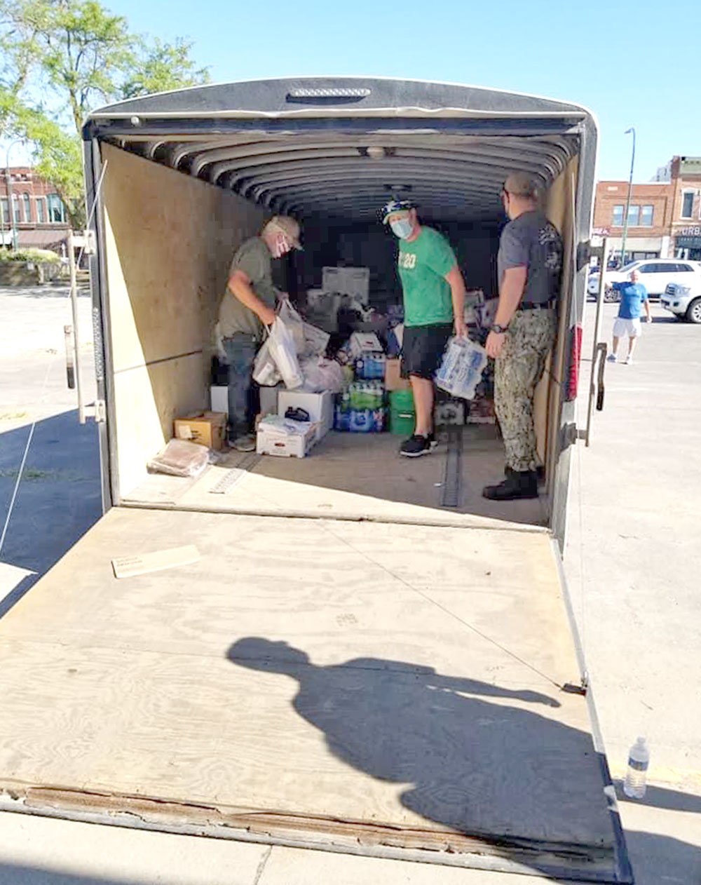 Charles City community sends trailer full of supplies to derecho victims; will do it again