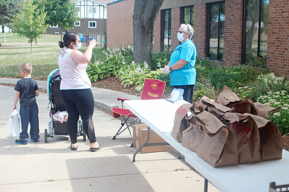 Last Saturday free produce distribution will be Sept. 26