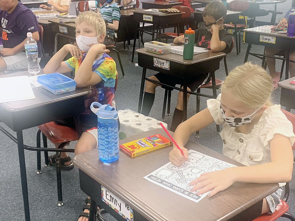 Charles City school's first week finds challenges, but also inspiration