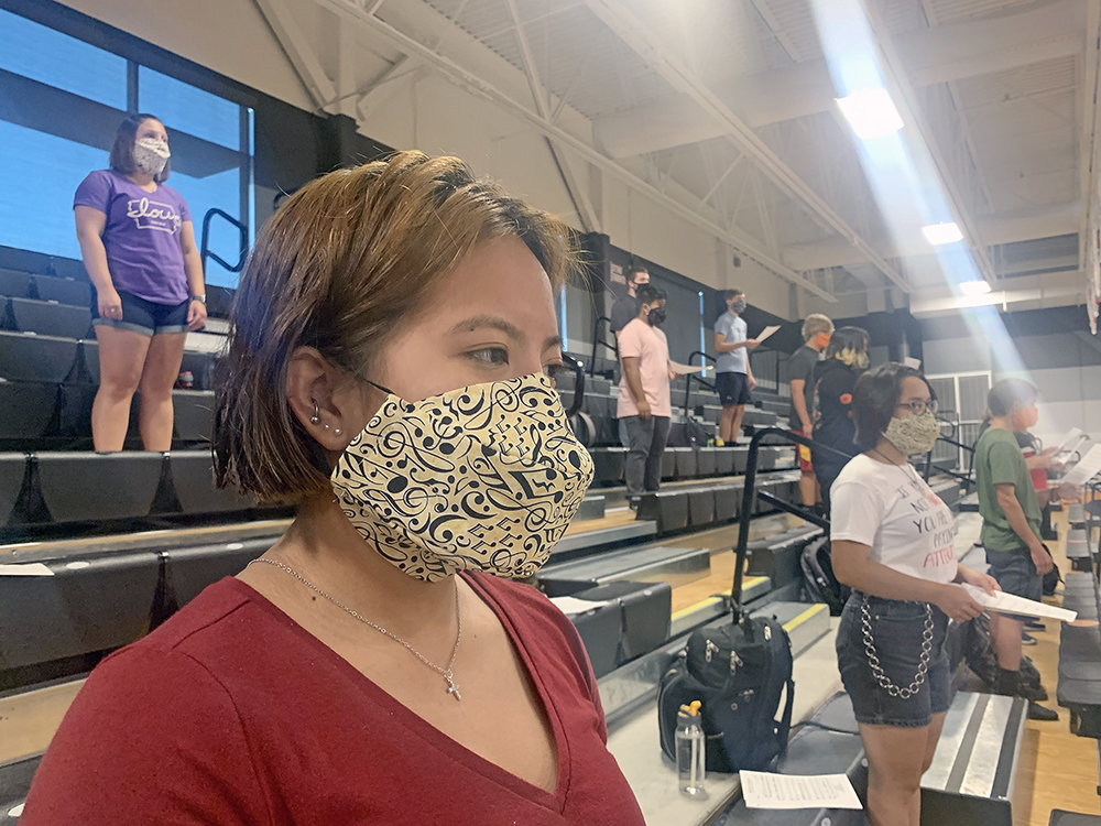 Special masks help ensure COVID won't stop the music at CCHS