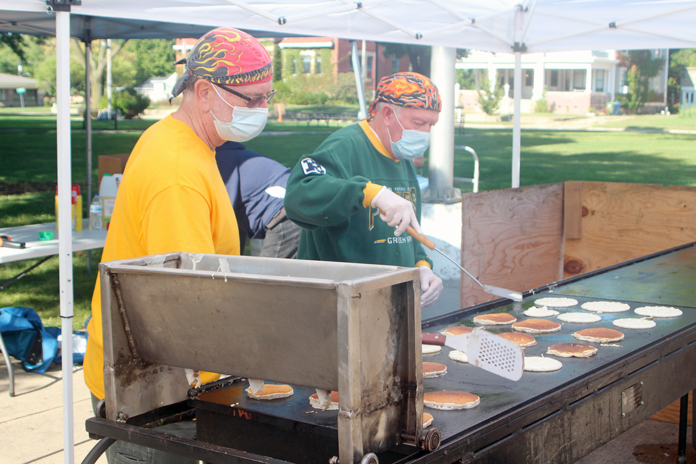 Charles City Lions serve up a mobile pancake breakfast