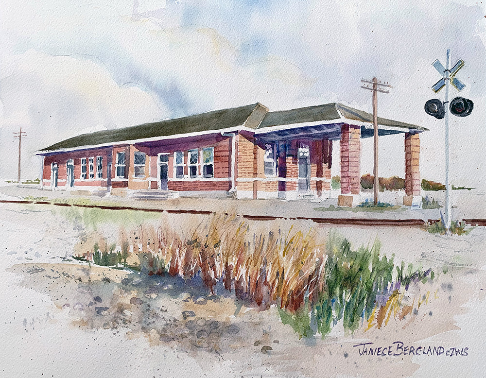 Bergland makes print of painting available to 'Save the Depot' donors