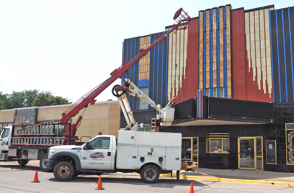 New displays light the way to the Charles Theatre