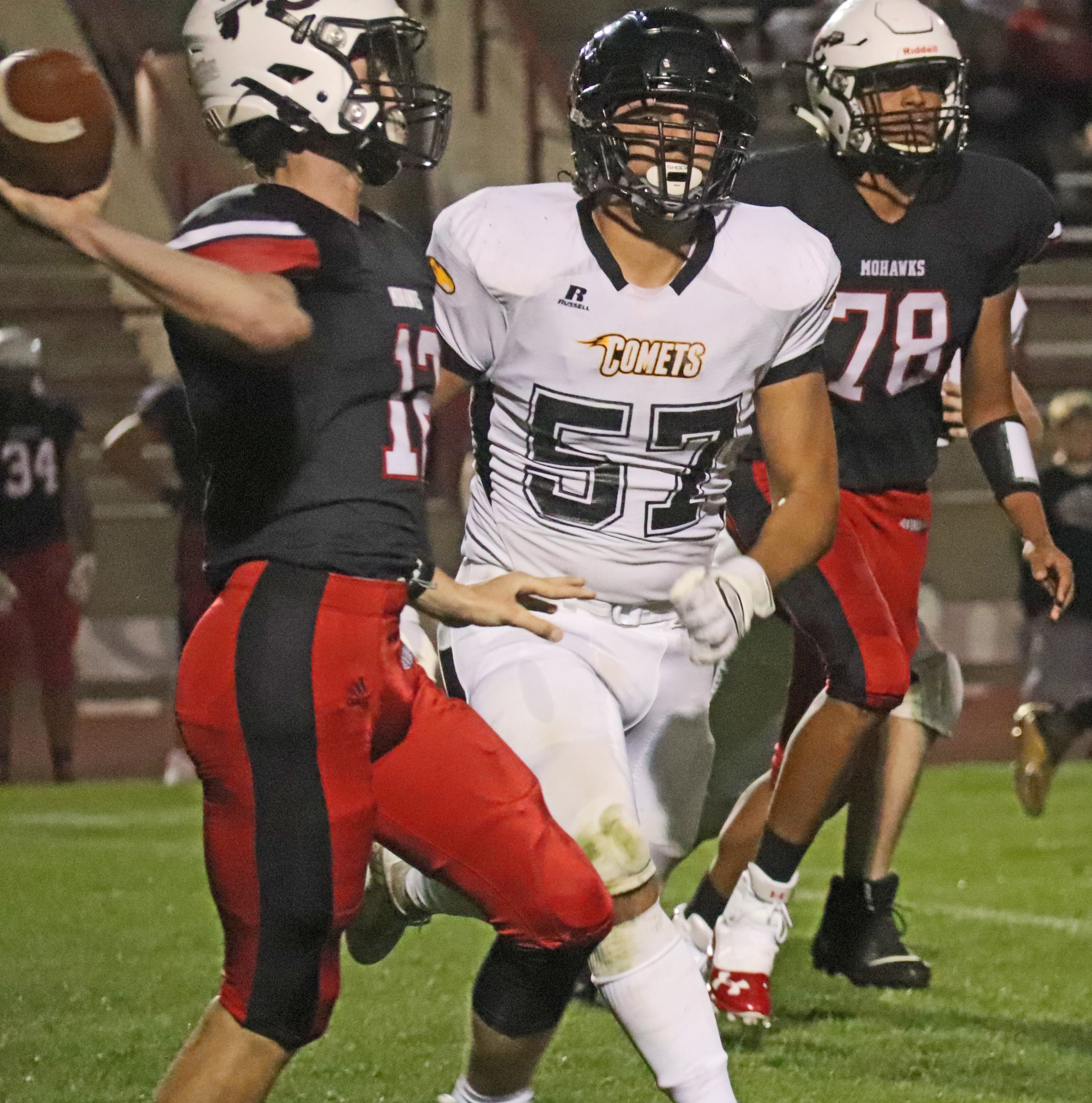 Mohawks roll over Comets 35-0