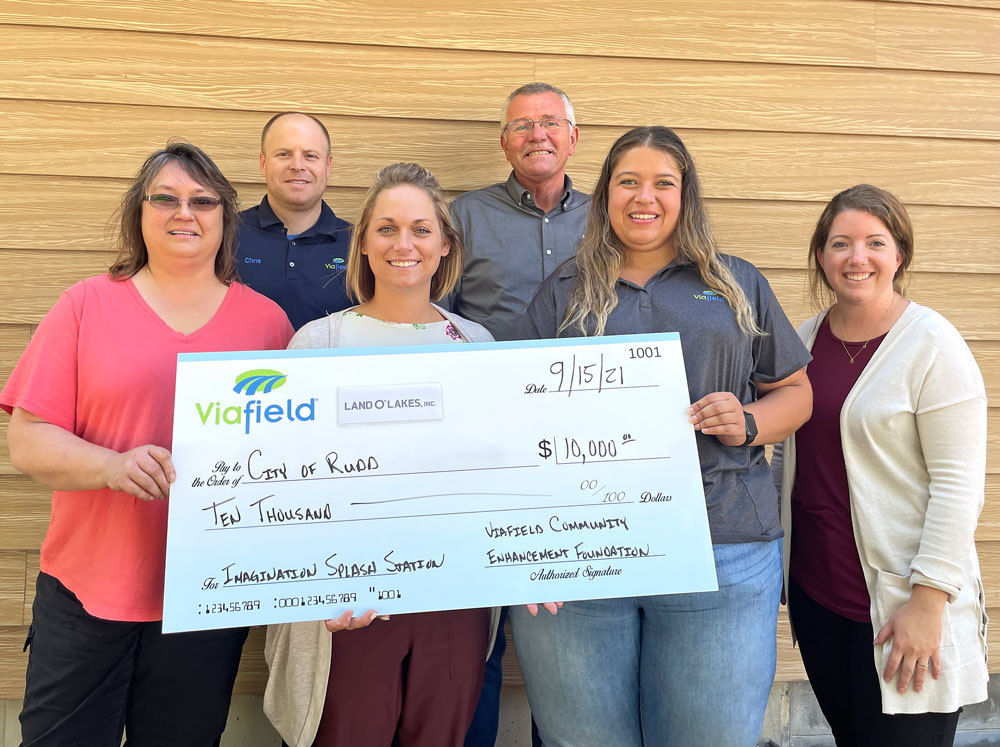 Donation nearly doubles tally for Rudd splash pad and playground project