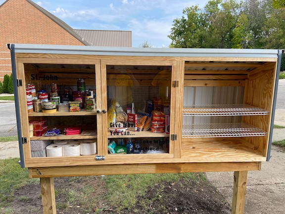 Food pantry installed near St. John church