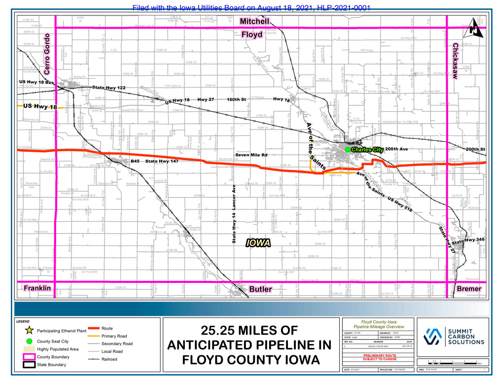 Monday meeting in Floyd will explore carbon capture pipeline proposal